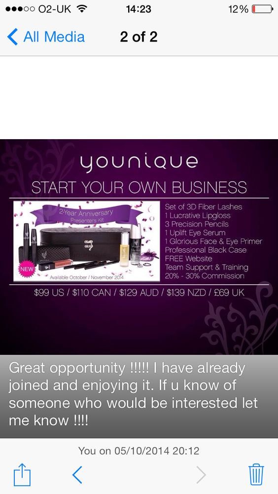 Great opportunity ! Be ur own boss and play with makeup ! Email me at nidzshah11@gmail.com for more info