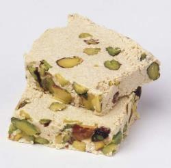 Turkish Sesame Halva/Tahini Halva recipe. Next time use lots of almonds.