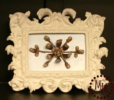 rustic snowflake made from pinecone!: