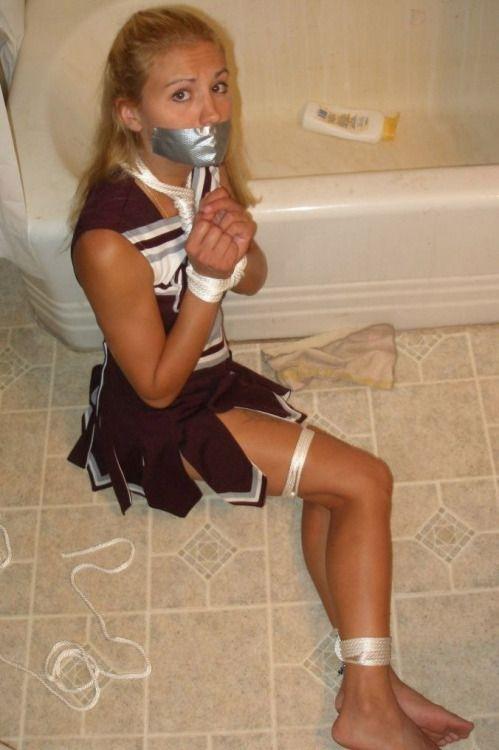 Cheerleader bound and gagged