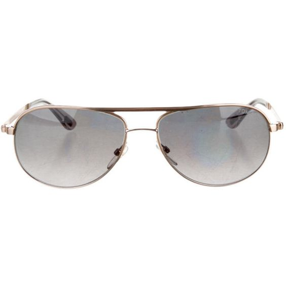 Pre-owned Tom Ford Sunglasses ($145) ❤ liked on Polyvore featuring accessories, eyewear, sunglasses, metallic, aviator sunglasses, tom ford, logo sunglasses, tom ford sunglasses and blue lens glasses
