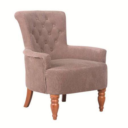 Klassische Eleganz und üppiges Polster mit Knöpfen verleihen diesem Sessel in schickem Nerzgrau eine zeitlose und gemütliche Note.