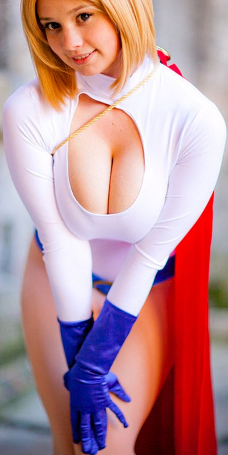 power girl sexy naked boobs