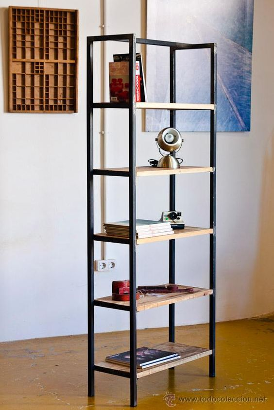 Librerias a medida estilo industrial   hierro y madera   foto 1 ...