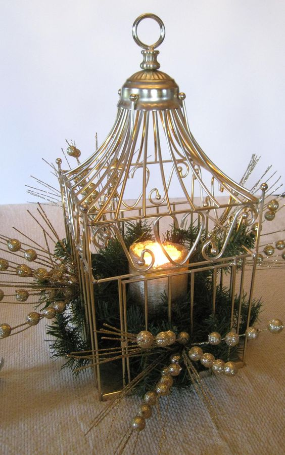 Bird cages centerpieces and birds on pinterest