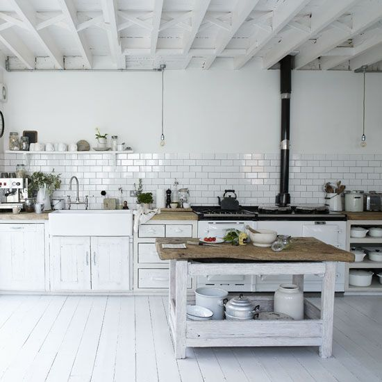 Kitchen Gallery Bright White Warm Wood Rustic Kitchens And