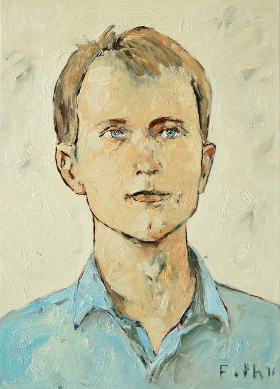 Bildnis eines jungen Mannes / Öl auf Leinwand / 70 x 50 cm 2016 / Detlev Foth