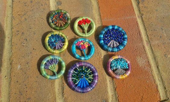Dorset button Brooches