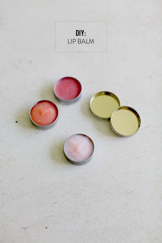 DIY Lip Balm - pretty easy! (via Design Crush)