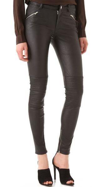 BLK DNM Stretch Leather Biker Pants