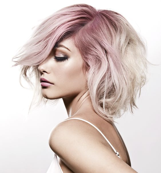 Platinum & Pastel: created with the pink Kevin Murphy Color Bug for temporary colour.: