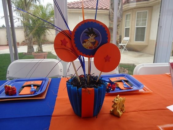 Dragon ball dragon ball z and party supplies on pinterest for Dragon ball z decorations