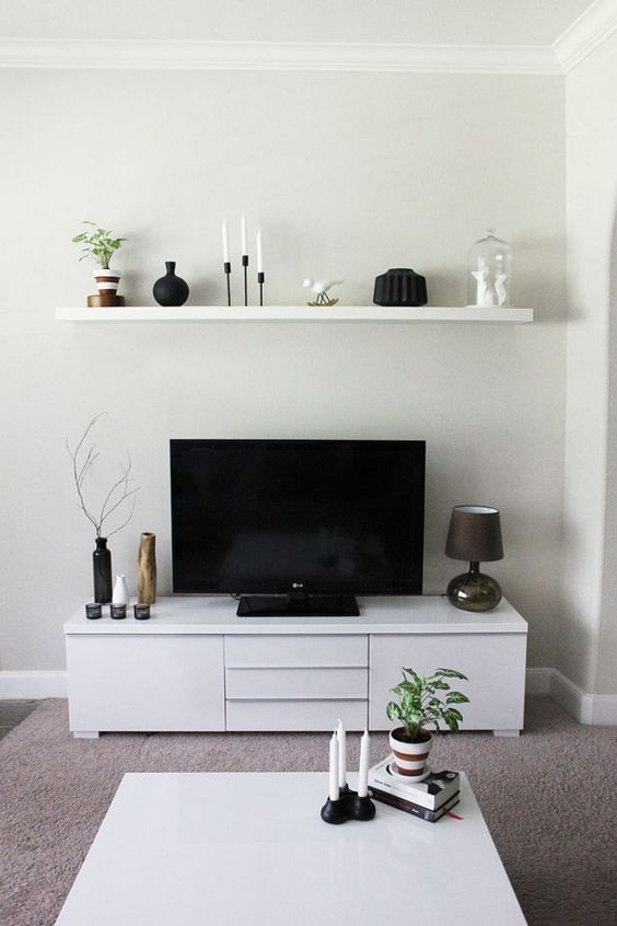 TVs, Small living rooms and Small living on Pinterest