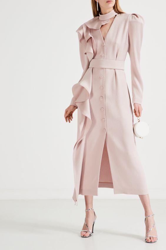 Платье миди на пуговицах Ulyana Sergeenko – купить в интернет-магазине в Москве