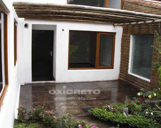 Oxidantes para concreto concreto estampado acabados - Pintura para pisos de cemento ...