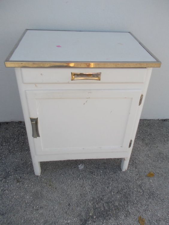 Charming 1950's kitchen cabinet with chrome by JasperKaneDesigns, $129.00