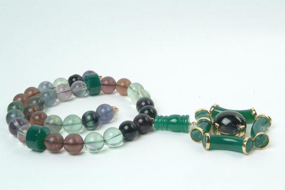 onyx and fluorite beads