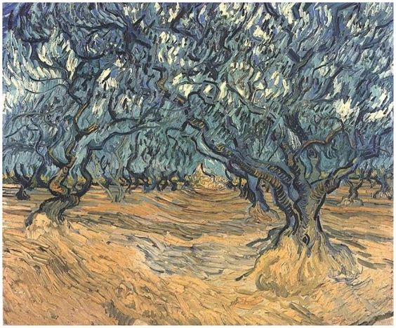 Olive Trees by Vincent Van Gogh Painting, Oil on Canvas  Saint-Rémy: September, 1889