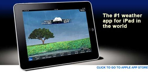 Weather Channel App for iPad/iPhone. The hour by hour's what I dig most.