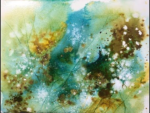 A Quick Abstract Watercolor Tutorial Using Watercolors And Acrylic