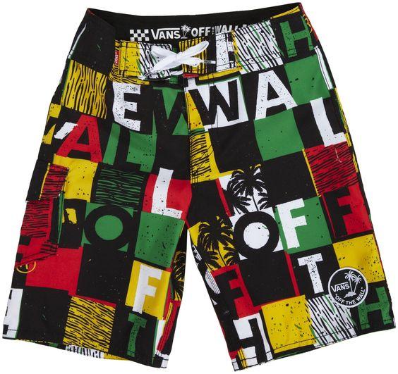 #Boy's #Swimwear #Vans #shopping #sofiprice Vans Off The Wall Boys Board Shorts - Rasta - https://sofiprice.com/product/vans-off-the-wall-boys-board-shorts-rasta-146375547.html