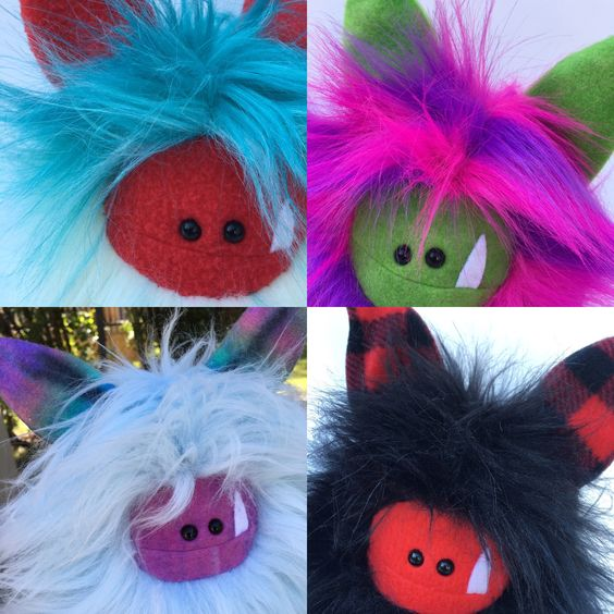 Fuzzlings ready for adoption - are you ready for an adventure with a Fuzzling? Visit my etsy shop to adopt today ❤️