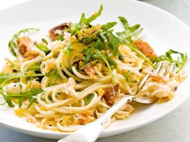 Spaghetti met krab, rucola en pancetta (Libelle Lekker!)