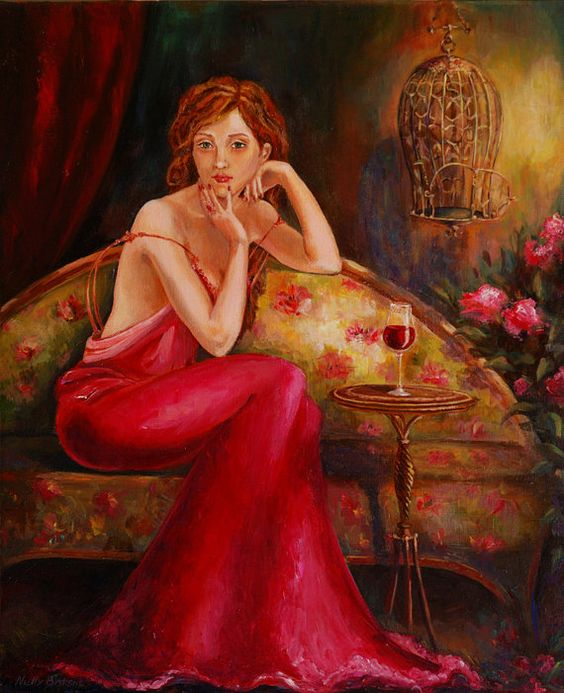 Nightingale will not sing in a cage by Nelly Baksht by ArtbyNelly, $500.00