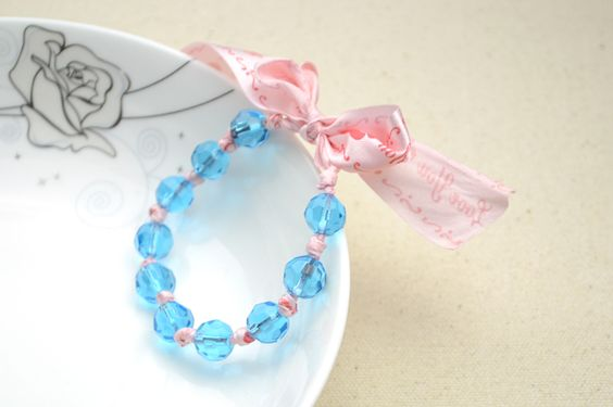 How To Make A Bracelet With Ribbon And Beads