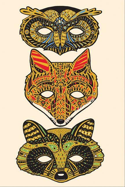paper masks.
