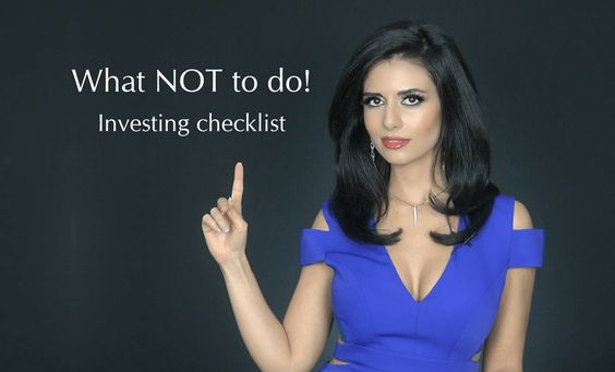 VIDEO: Investment Checklist – What Not To Do! Number 4 on checklist can fool even best investors | Invest Diva #investing #investment #investors #investdiva
