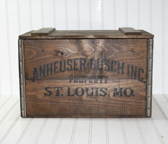 Vintage Wooden Crate  #sponsored