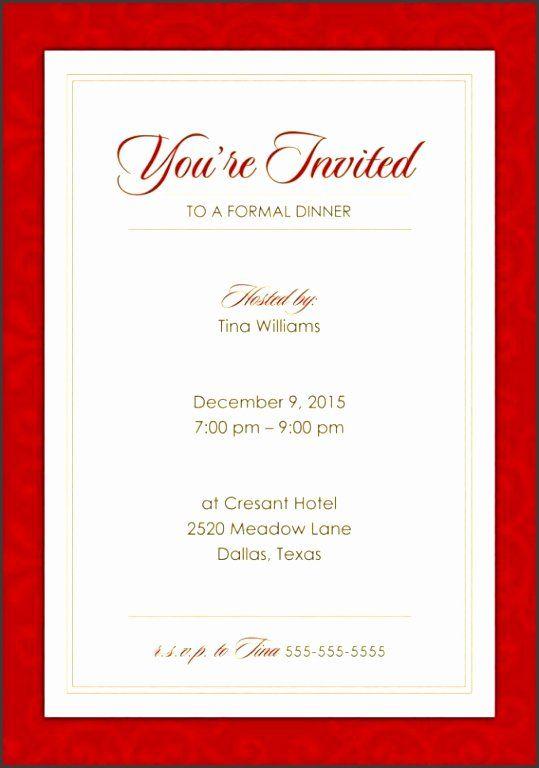 Birthday Dinner Party Invitation Wording Inspirational 9 Formal Dinner Party Invitatio In 2020 Dinner Invitation Template Invitation Templates Word Invitation Template