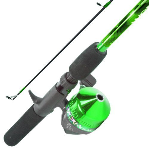 south bend worm gear fishing rod and spincast reel combo, green, Reel Combo