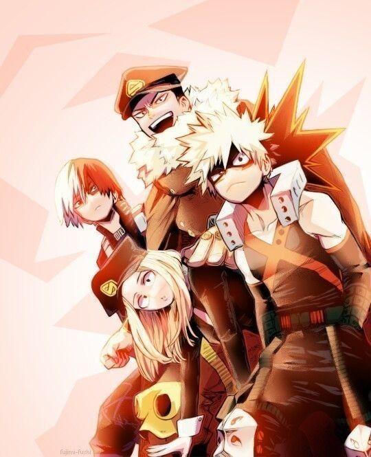 Katsuki Bakugou And Camie Utsushimi My Hero Hero My Hero Academia