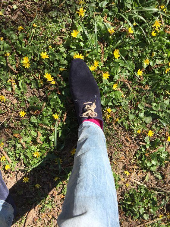 Blauwe suede schoenen @sasha