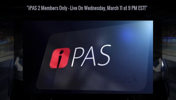 iPAS 2 Members Only – Live On Wednesday, March 11 at 9 PM EST! http://www.lukaszgaluszka.com/ipas-2-members-only-live-on-wednesday-march-11-at-9-pm-est/
