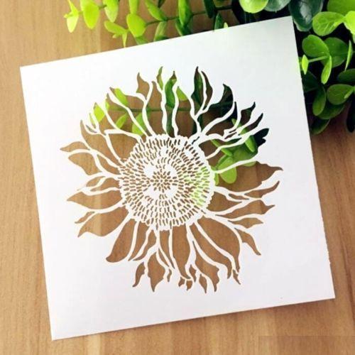 Sunflower Pattern Layering Stencil Template DIY Scrapbooking Home Decor Gift ~