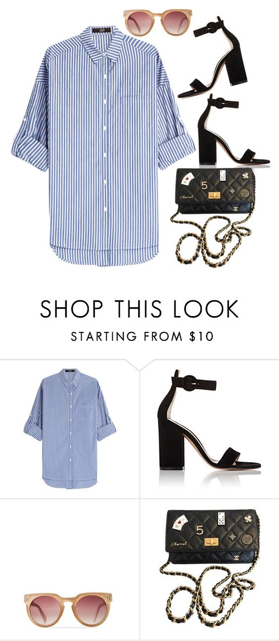 """Ym"" by skatery ❤ liked on Polyvore featuring Steffen Schraut, Gianvito Rossi and Chanel"