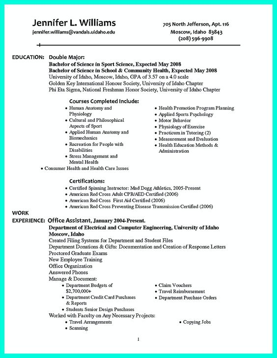 Well Written Resume Resume Ideas