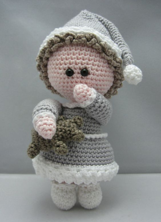 Amigurumi Doll Pdf : Sleepy head instant download amigurumi doll crochet