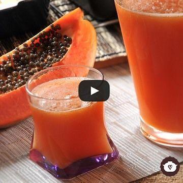 Una refrescante agua de papaya, excelente fuete de fibra para ayudar en la digestión.