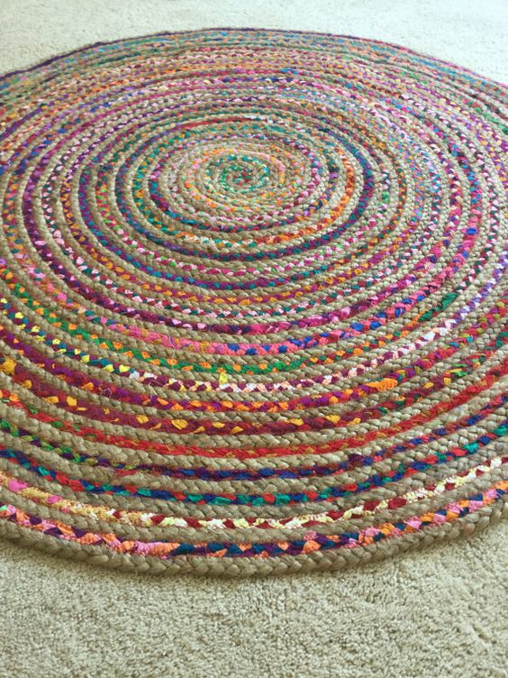 Round Rag Rug Boho Chic Hippie Area Rug 4 By
