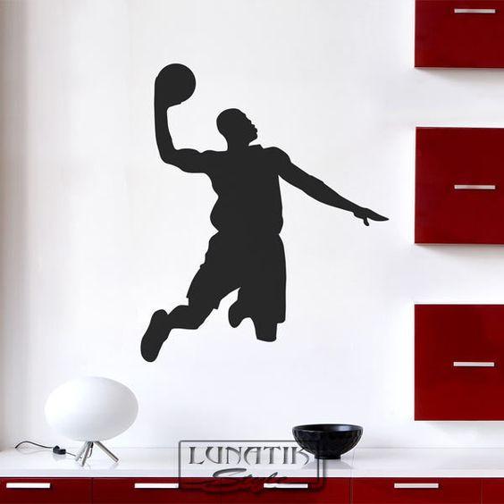 Wandtattoo Basketball Spieler Korbwurf - WE16 von Lunatik-Style via dawanda.com