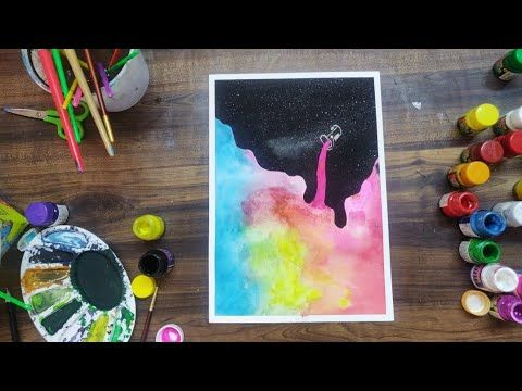 Paint The Night A Simple Watercolor Painting Youtube Night