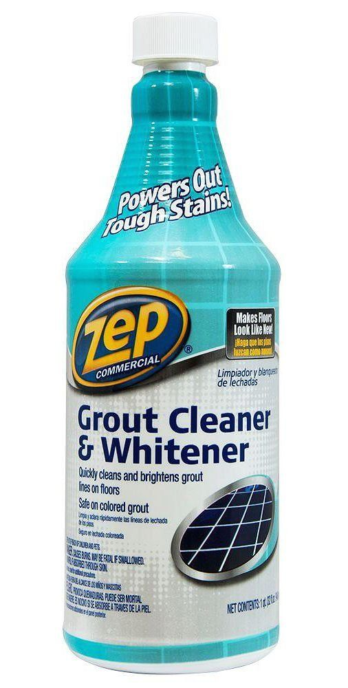 Zep 32 Fl Oz Grout Cleaner And Brightener Zu104632 The Home Depot 1000 In 2020 Grout Cleaner House Cleaning Tips Cleaning