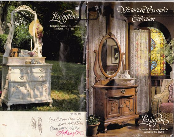 Lexington victorian sampler collection original brochure - Used lexington bedroom furniture ...