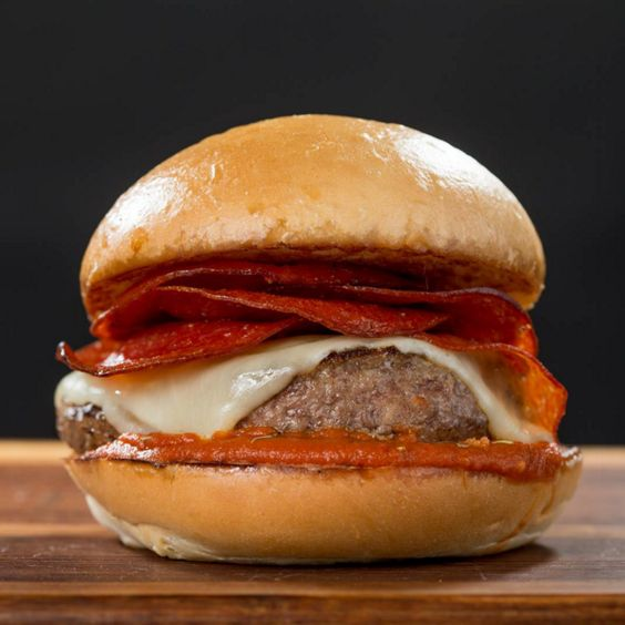 Pizza burgers, Pepperoni and Burgers on Pinterest