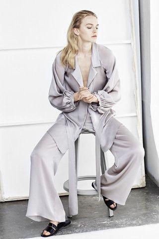 Three Graces London, Longest Day, Silk Satin Chiffon Pyjama