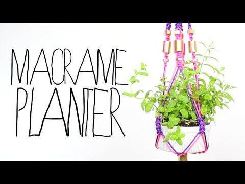 DIY Macrame Planter on Threadbangers